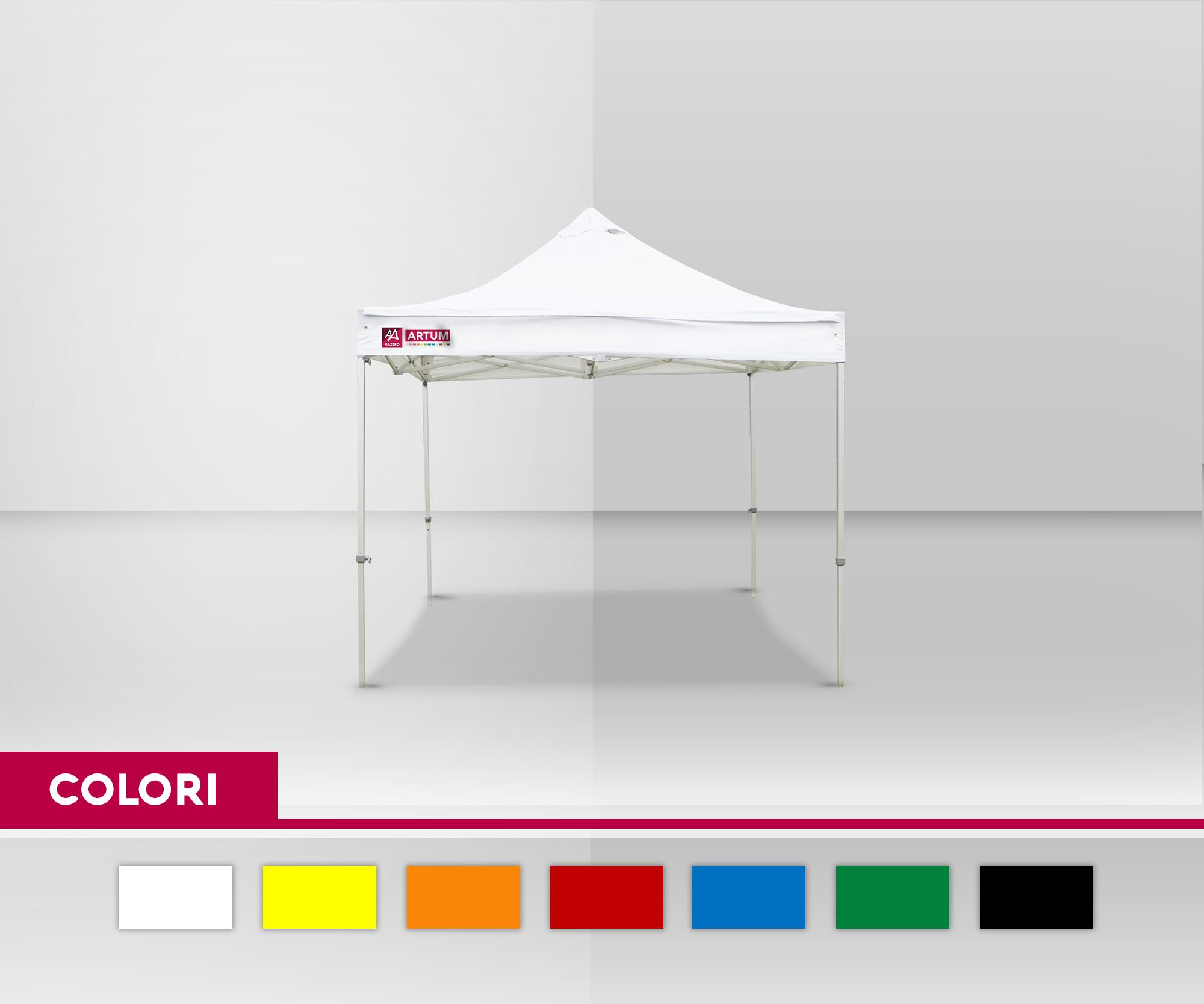 colore Gazebo Pieghevole mt 3x3 Alluminio