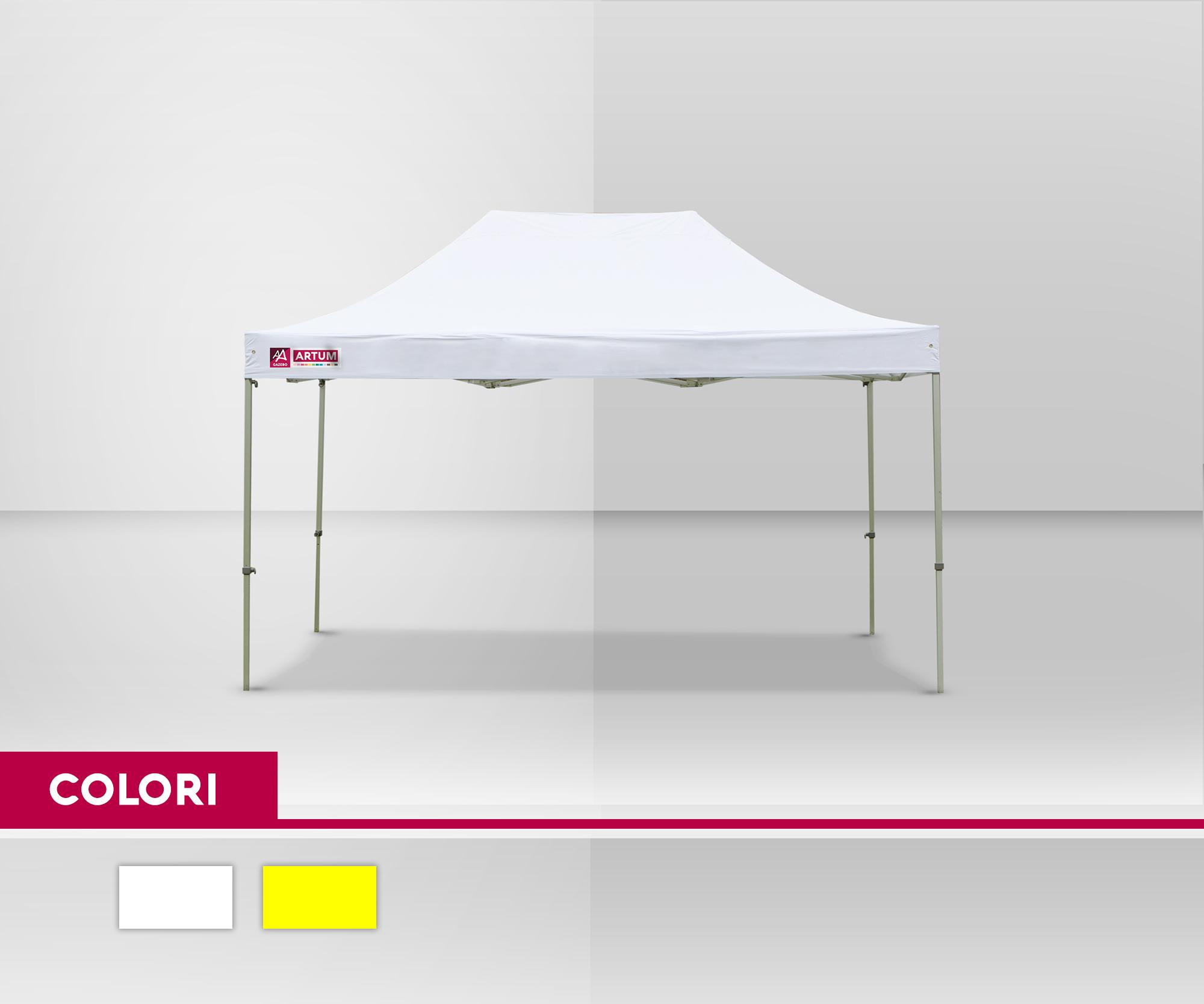 colore Gazebo Pieghevole mt 3x4-5 Alluminio