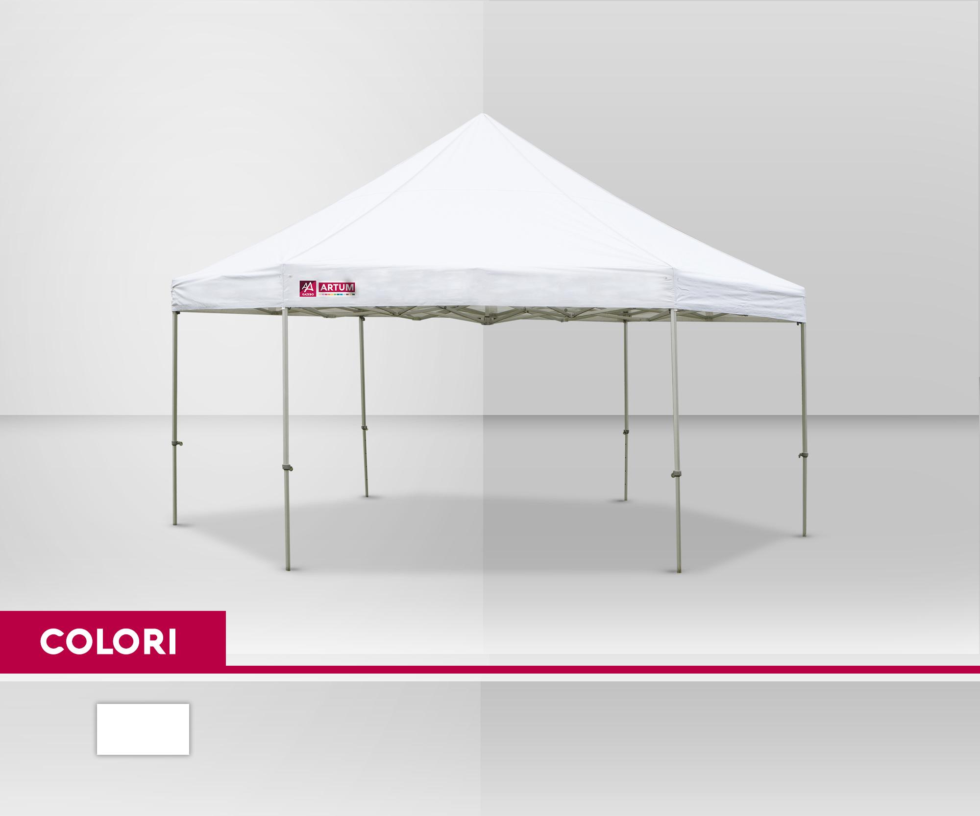 colore Gazebo Pieghevole mt 6 esagonale Alluminio