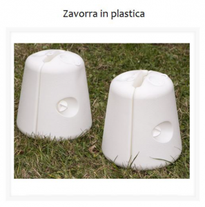 zavorre in plastica
